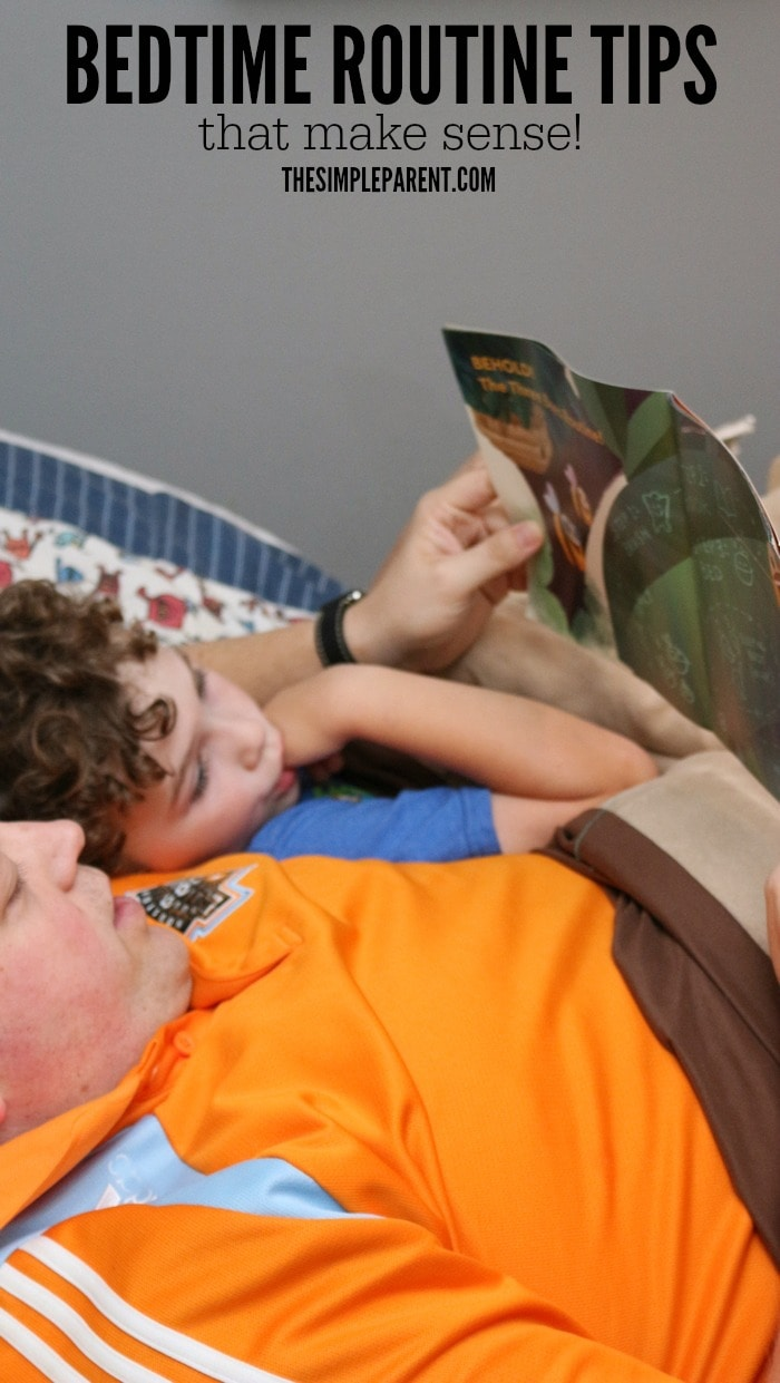 Make bedtime easier with bedtime routine tips that make sense for busy families!