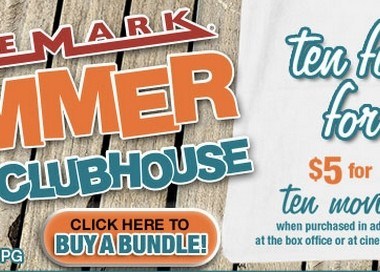 If you've never checked out the Cinemark Summer Movie Clubhouse with your kids, this is the year! Select Cinemark theaters offer $1 movie dates as part of the program! It's a perfect way to spend some time together this summer!