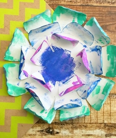 Make a Paper Plate Flower Craft and Grow Your Own Garden!