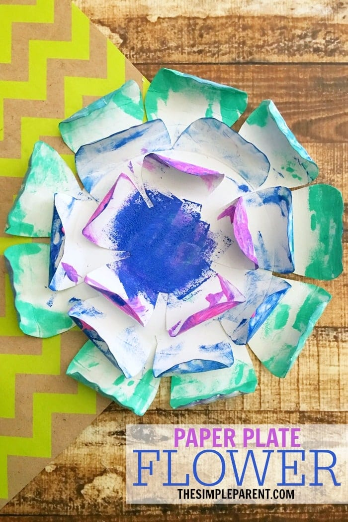 make your own paper plate craft for spring or mothers day