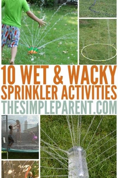 Get ready for summer with these wet and wacky sprinkler activities for kids!