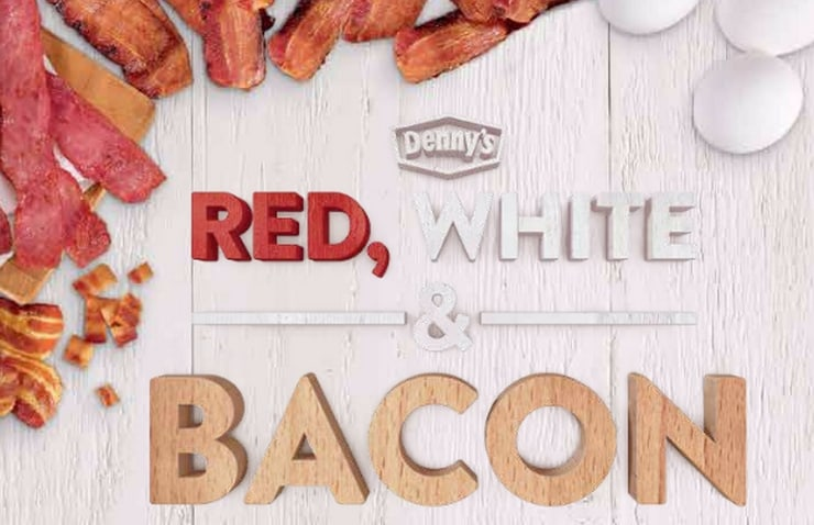 The Red, White, & Bacon Menu at Denny's brings one of our favorite ingredients to the table in some great ways this summer!