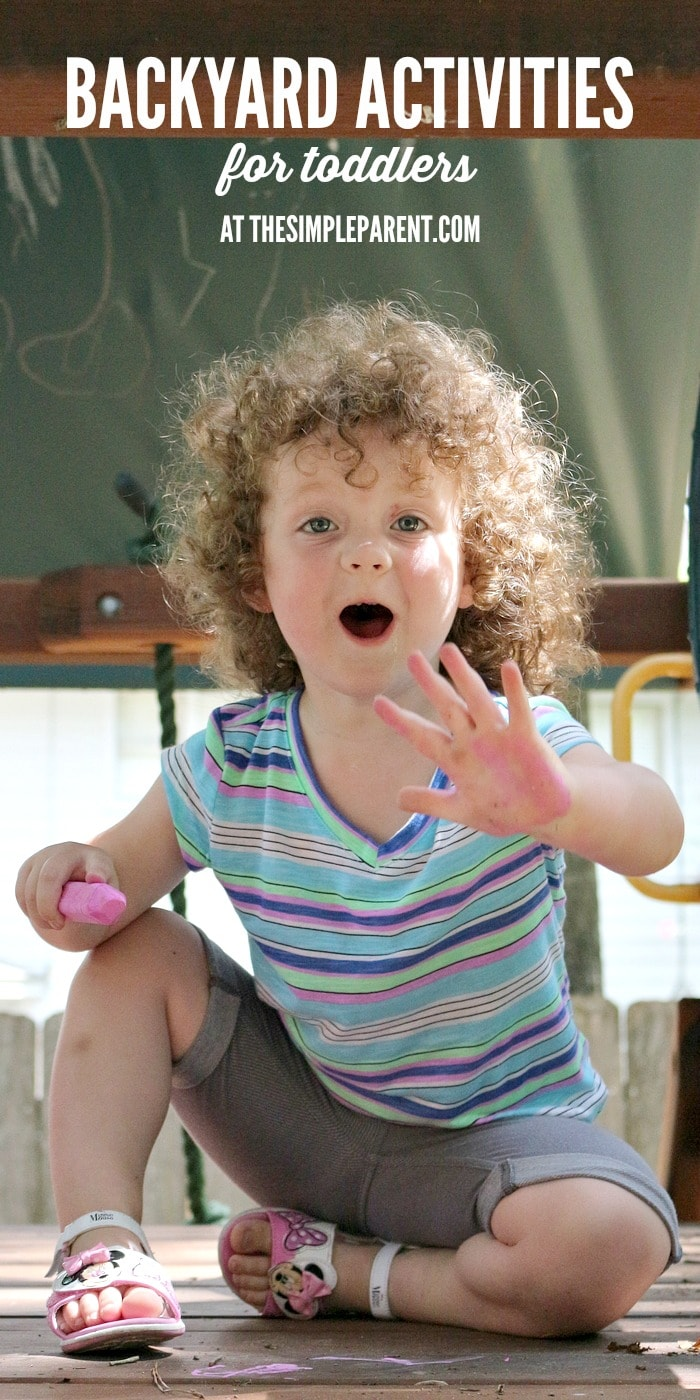 Have fun with your kids this summer with some fun and easy backyard activities for toddlers!