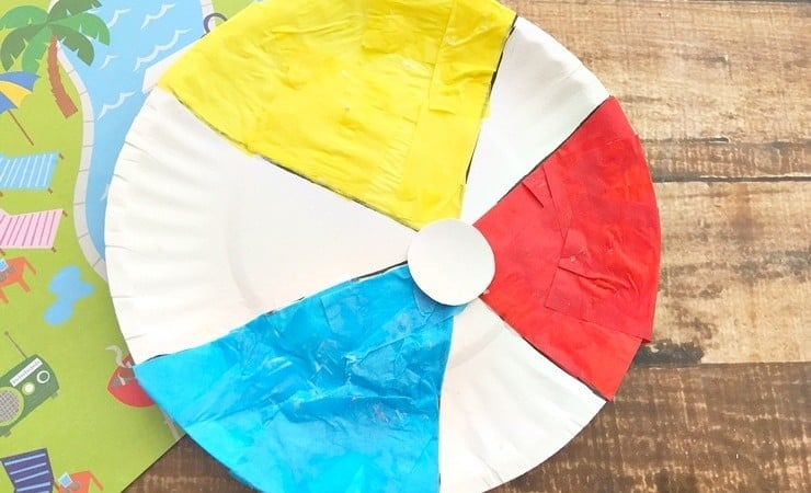 Make a Beach Ball Paper Plate Craft This Summer