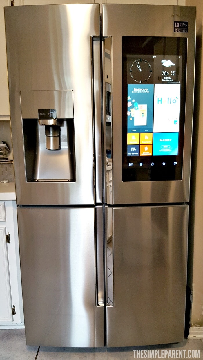 samsung family hub refrigerator makes the kitchen the heart of the home the simple parent. Black Bedroom Furniture Sets. Home Design Ideas