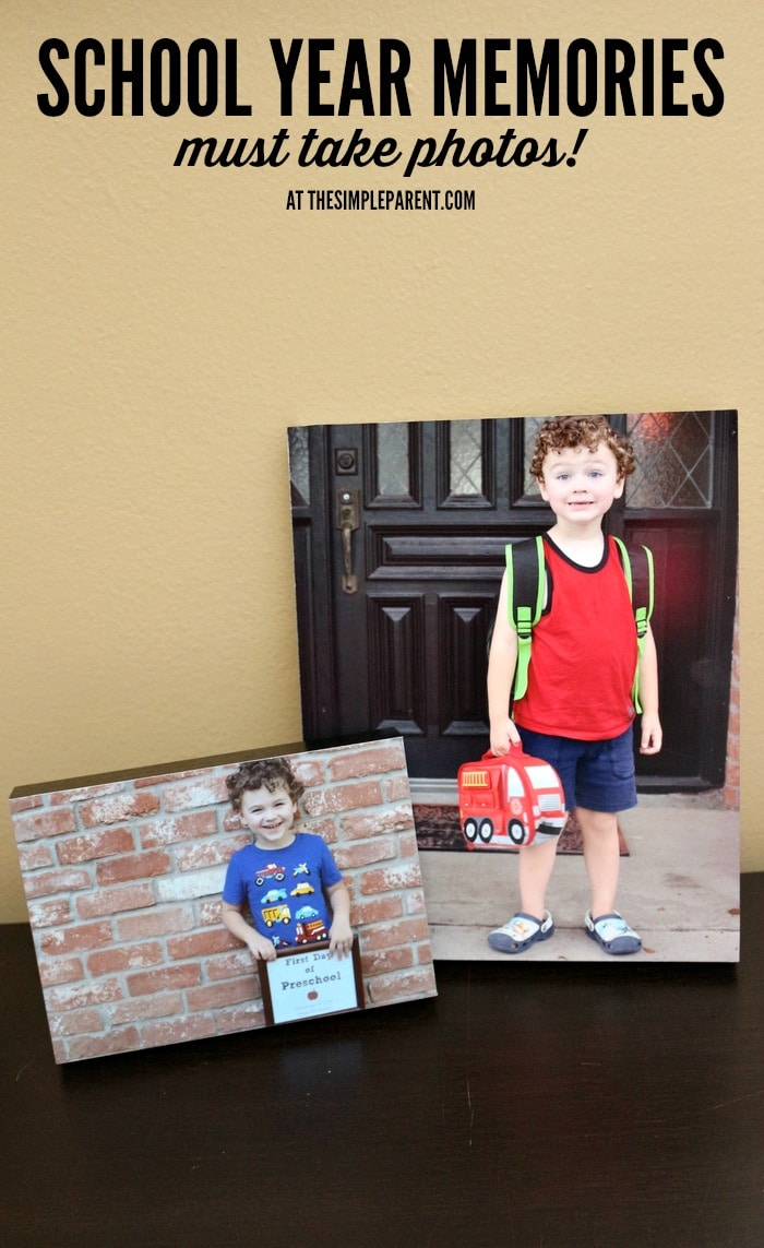 Check out this list of school year memories you must get a photo of and then turn them into keepsakes!