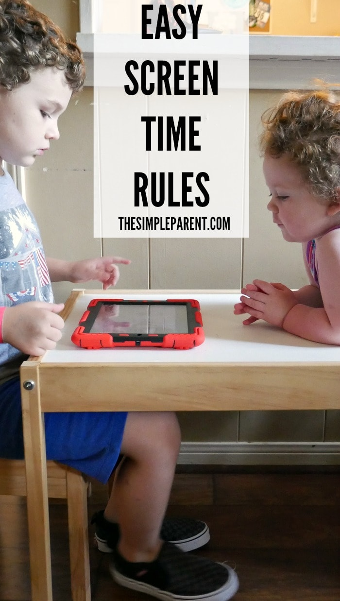 All you need are some easy screen time rules to help keep things a bit balanced and it's okay for technology to be part of your busy family life!