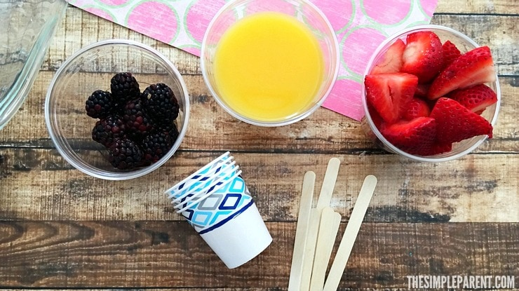 This easy orange berry ice pops recipe is fresh and healthy! It's a great option when you're trying to make better choices and need a sweet treat!