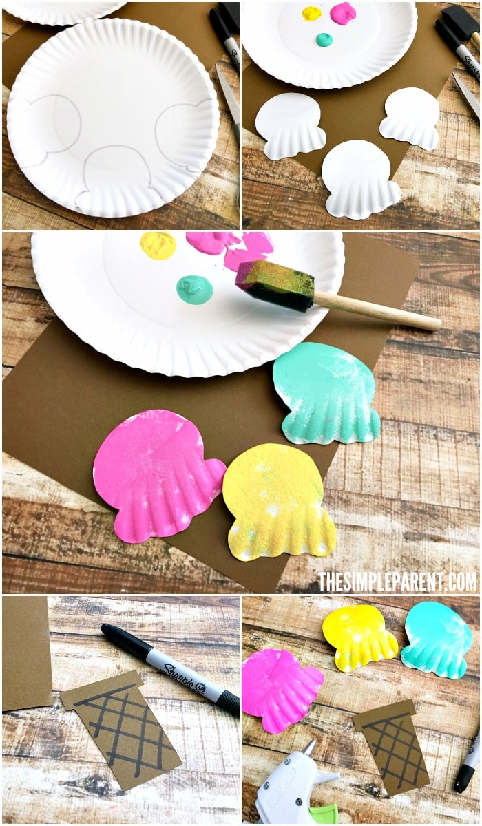 paper plate ice cream craft paper plate craft for sweet the simple parent 7023