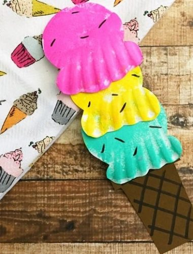 Make a Paper Plate Ice Cream Craft for fun this summer!