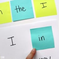 Easy Sight Word Matching with Post-It Notes