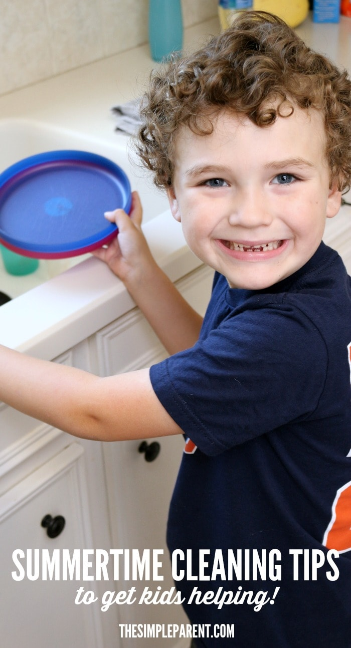 Get your kids helping out more with these easy summertime cleaning tips!