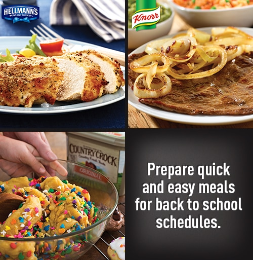 Check out how to make Back to School meals easier!