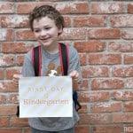 First Day of Kindergarten Celebration Ideas