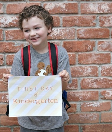 Plan a First Day of Kindergarten celebration or two! Make the day special!