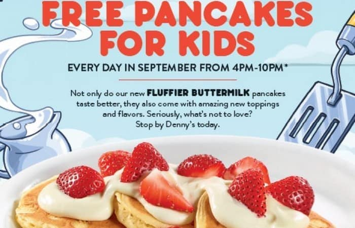 Denny's Free Pancakes for Kids