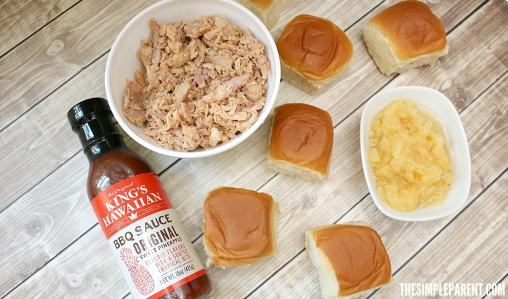 Easy Hawaiian BBQ Sliders for Game Day
