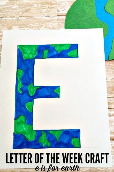 Letter of the Week Craft: E is for Earth