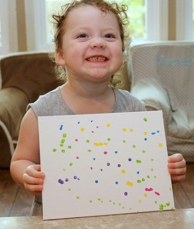 Cotton Swab Painting is one of our favorite preschool art activities!