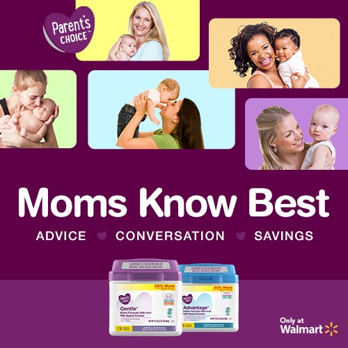 Moms know best with Parent's Choice formula at Walmart.
