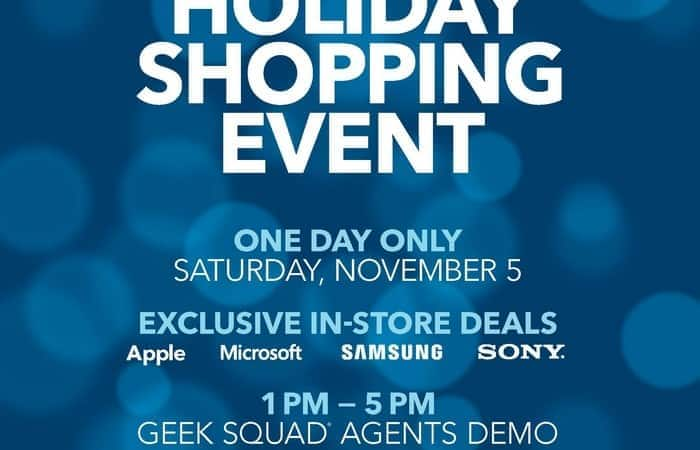Best Buy Holiday Shopping In Store Event