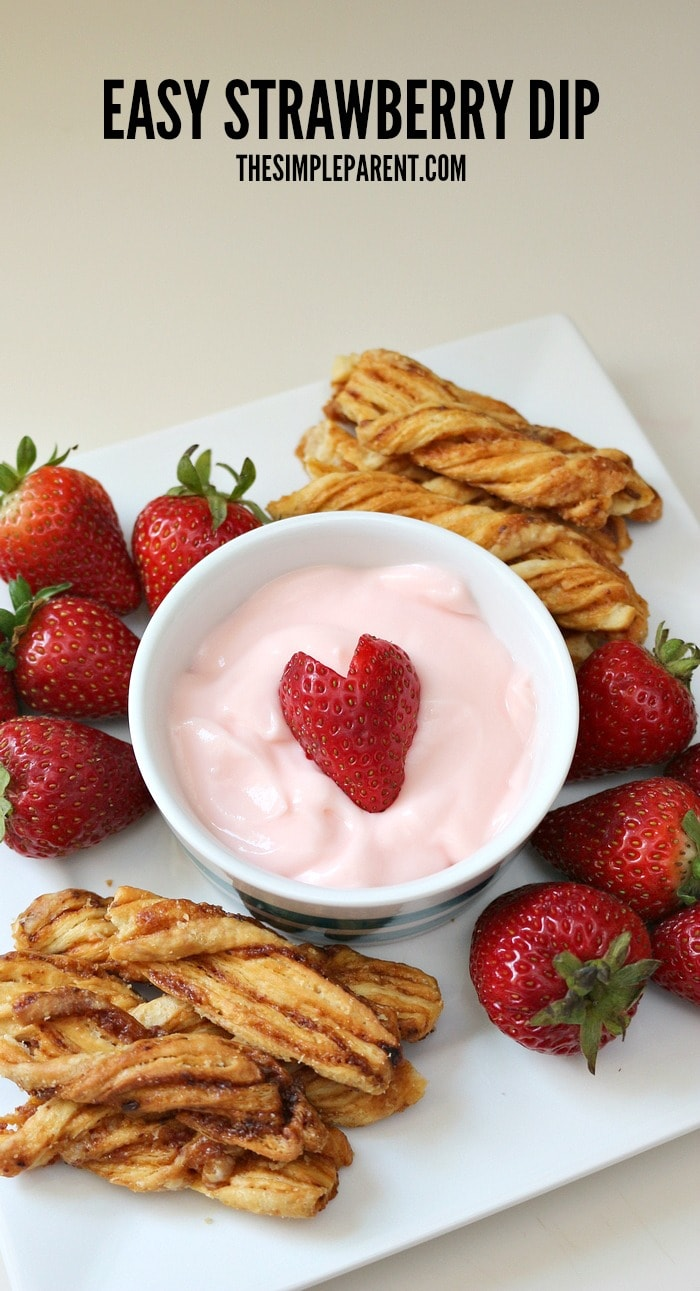 Make easy strawberry dip for your next get together!