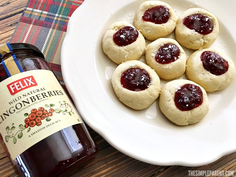 Make Lingonberry Thumbprint Cookies with Jam for your next get together!