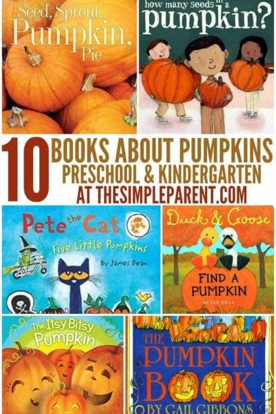 Celebrate fall and holiday food by reading these Pumpkin books with your preschooler!