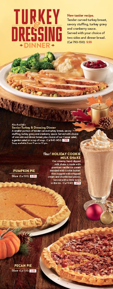 Check out the seasonal pancake flavors at Denny's this year!