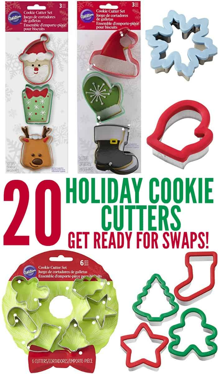 Pickup some new holiday cookie cutters and get ready for holiday cookie swaps!