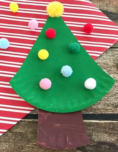Make this easy Paper Plate Christmas Tree craft with your kids!