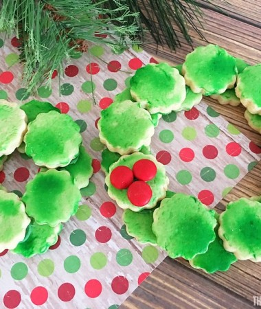 Need fun Christmas Cookie ideas? Make Sugar Cookie Wreaths!