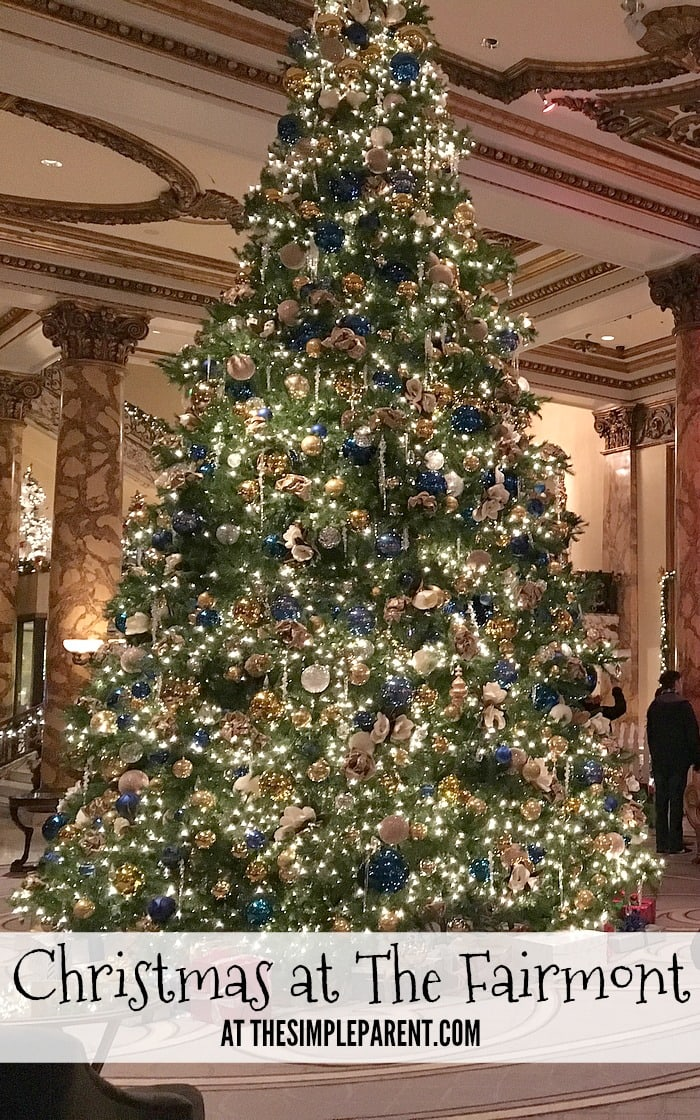 Check out how amazing Christmas is at The Fairmont San Francisco!