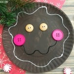 Paper Plate Gingerbread Man Craft