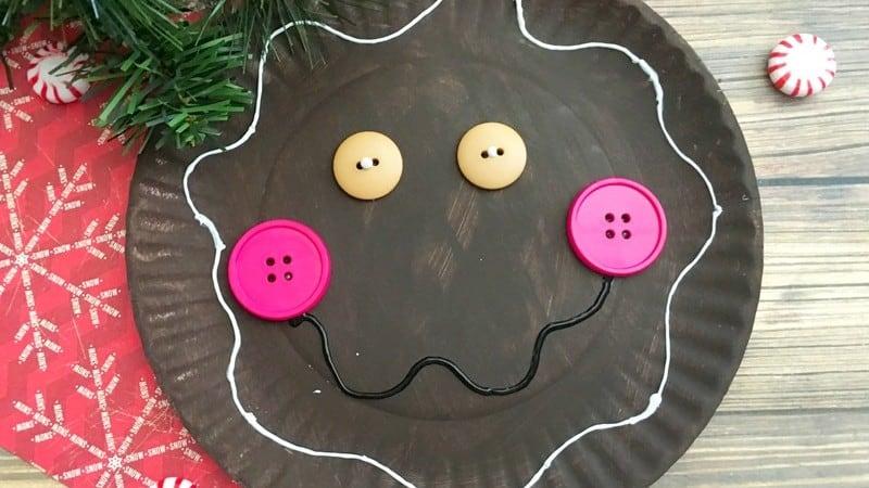 Paper Plate Gingerbread Man Craft