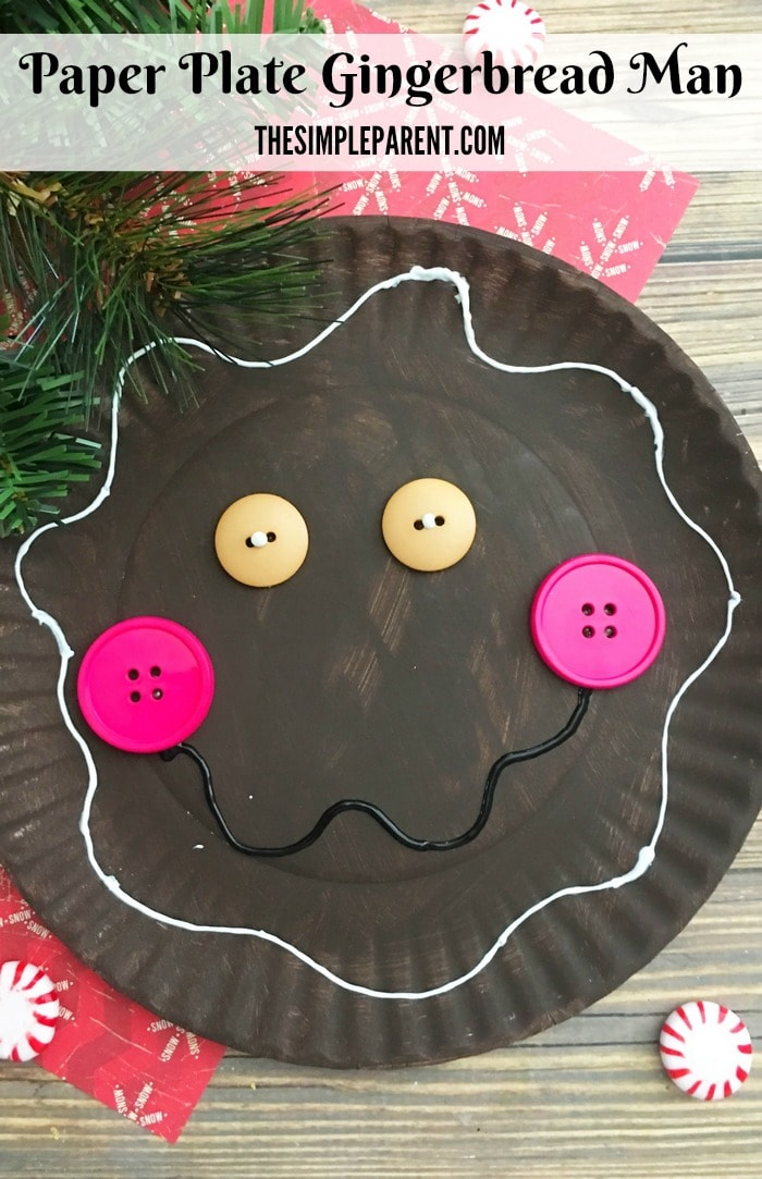 Have fun this holiday season by making this Paper Plate Gingerbread Man Craft!
