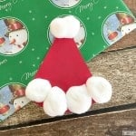 Easy Paper Plate Santa Hat Craft