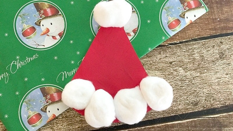Easy Paper Plate Santa Hat Craft