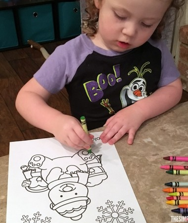 Our fun winter printable activity pack includes a winter coloring printable page for free!