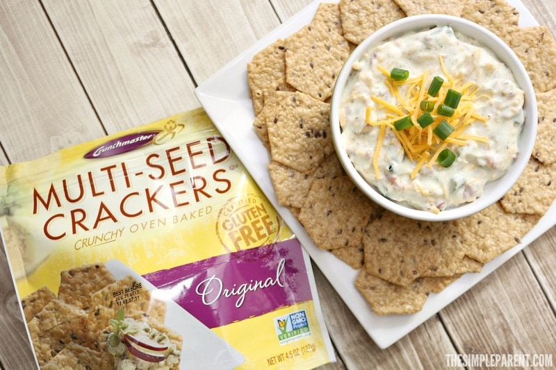 Pair this easy bacon ranch cheese dip recipe with your favorite crackers or chips!