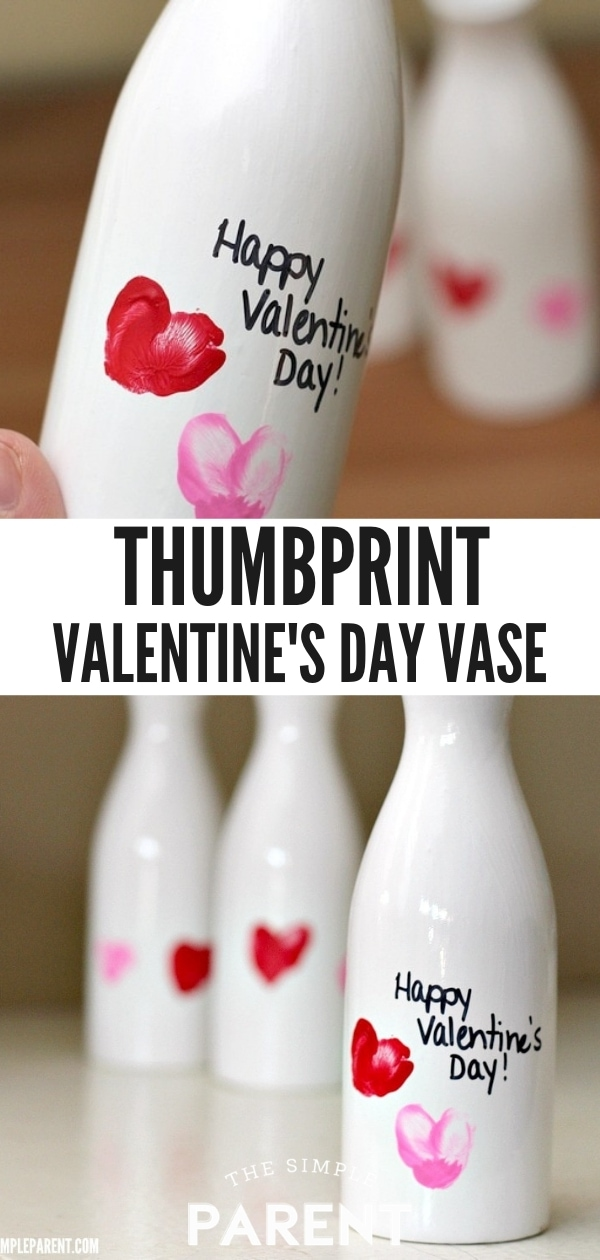 Valentine's Day Thumbprint Vase Craft