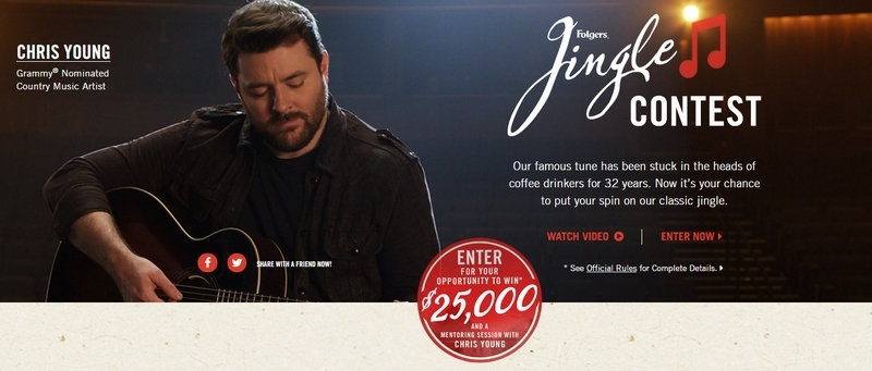 The Folgers Jingle Contest 2017 is here! Enter for your chance to win!