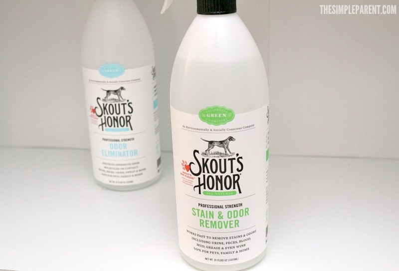 Skout's Honor has the best pet stain odor remover for our family! It does double and even triple duty!