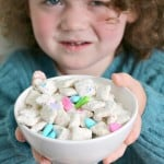 Rainbow Puppy Chow Recipe & Family Movie Night