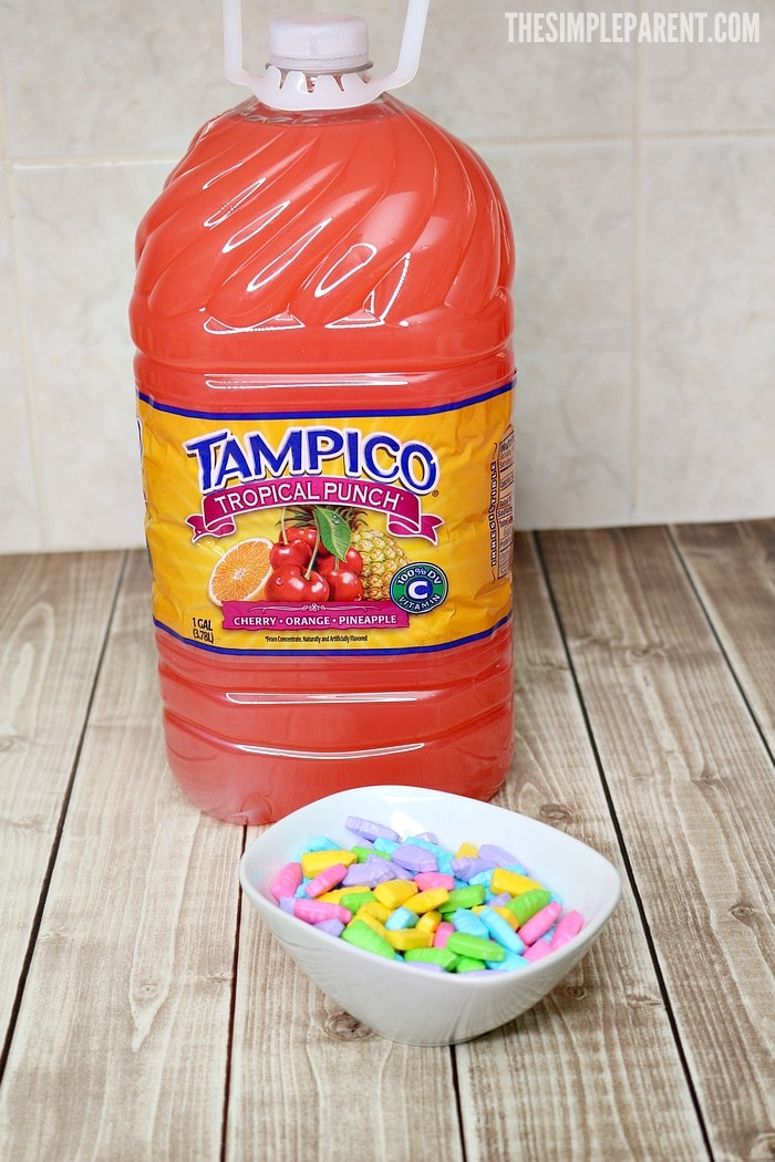 We pair this easy puppy chow recipe with our favorite Tampico juice!