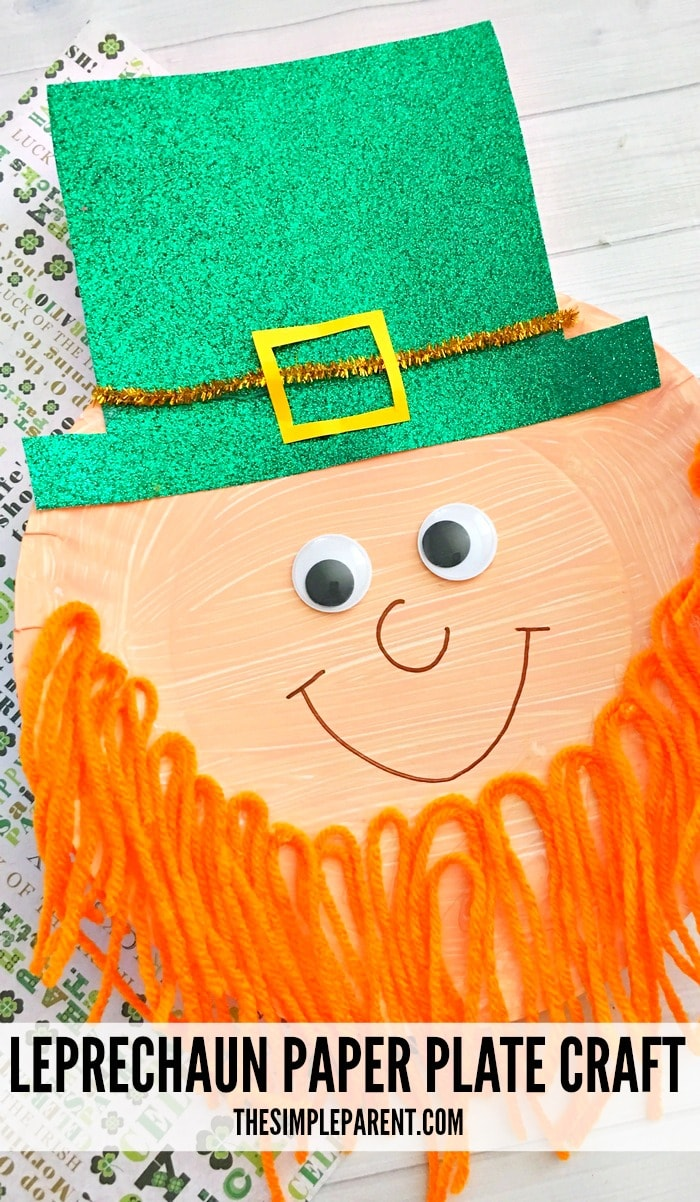 Leprechaun craft ideas are perfect for St. Patrick's Day and the month of March! Try this paper plate craft with your kids!