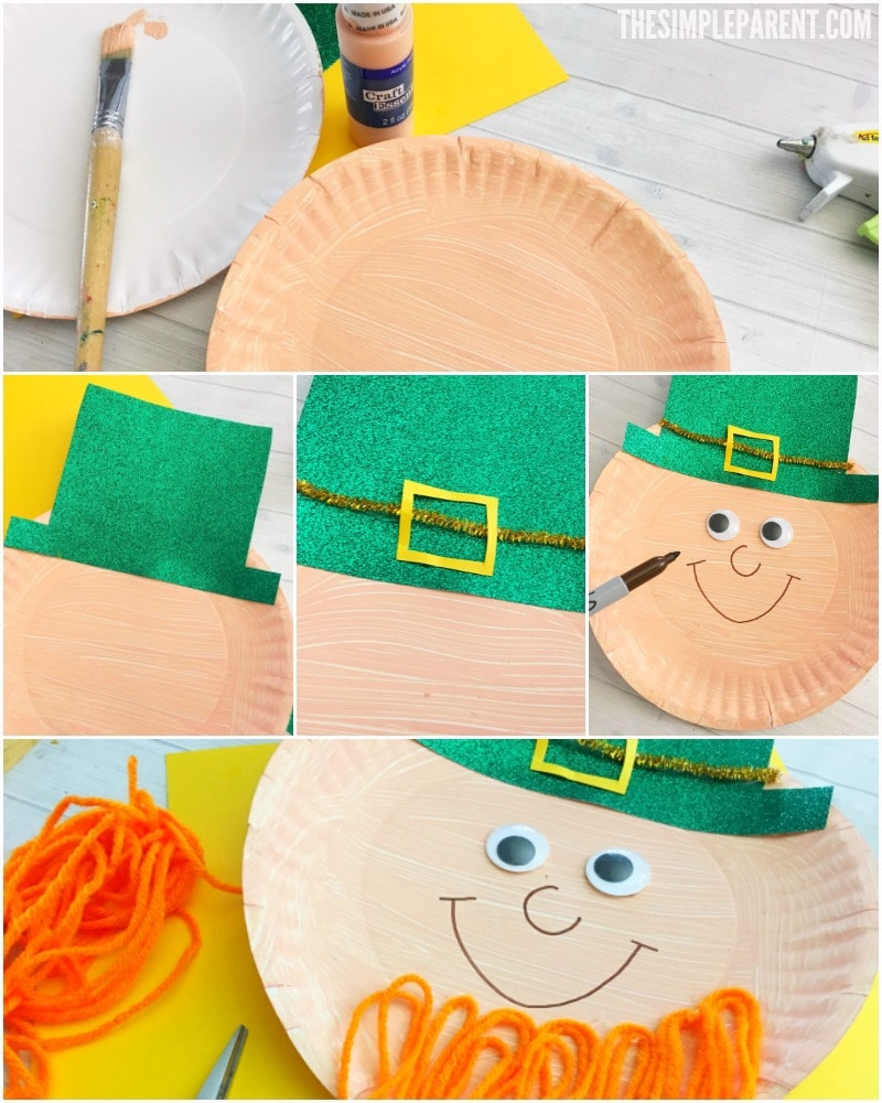 Learn how to make this cute Leprechaun paper plate craft for St. Patrick's Day!