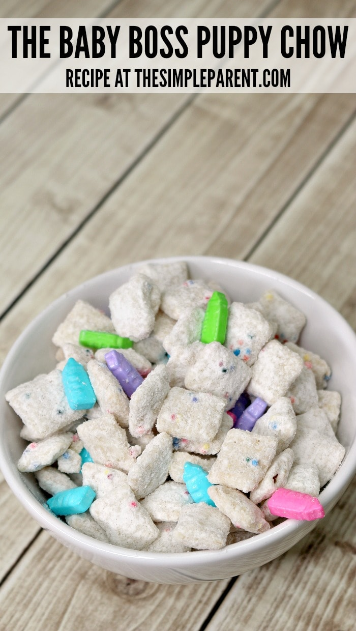 This easy Rainbow Puppy Chow recipe is easy to customize for your next family movie night!