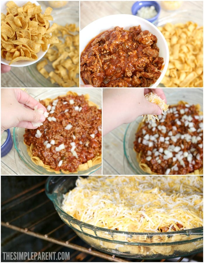 Check out the steps to make Sloppy Joe Frito Pie!