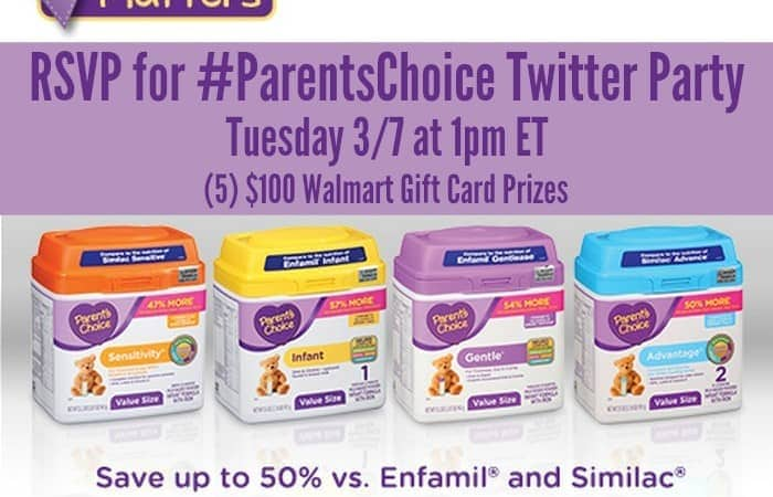 Join the #ParentsChoice Twitter Party on 3/7! RSVP Now!